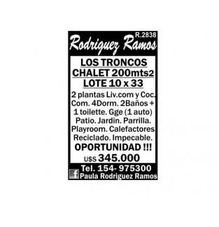 CHALET LOS TRONCOS