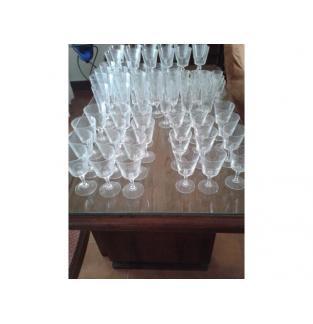 Juego de cristal de bohemia 72 copas completo