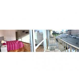 Impecable 2 ambientes externo frente al casino y el mar