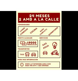 24 MESES - 2 AMBIENTES A LA CALLE - $9000