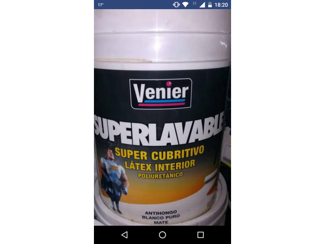 LATEX SUPERLAVABLE VENIER INTERIOR SUPER OFERTA!!! - 1/1