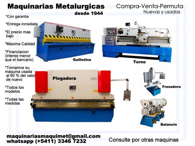 Maquinarias Metalurgicas - 1/4
