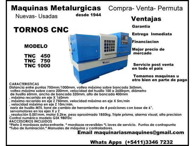 TORNO CNC WECHECO MODELO TNC750/TNC1000 - 1/4