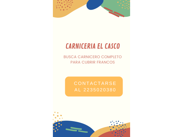 BUSQUEDA CARNICERO COMPLETO - 1/1