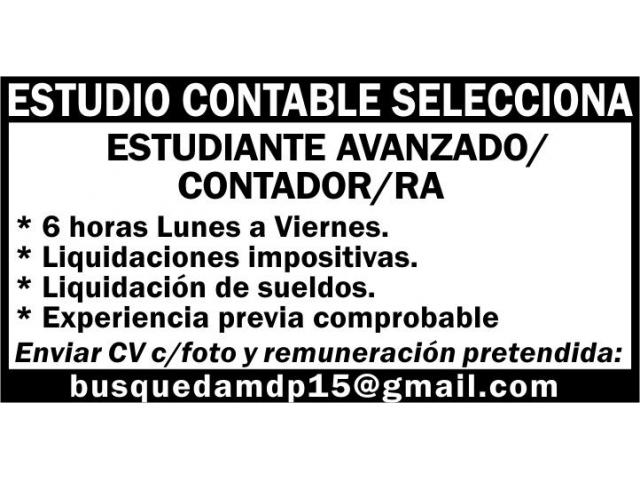 ESTUDIANTE CONTADOR/RA - 1/1