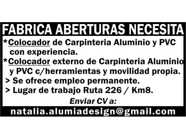 COLOCADOR DE CARPINTERIA - 1/1