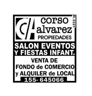 VENDO SALON EVENTOS